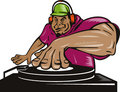 Deejay playing music Stock Photography