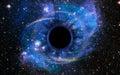 Deep Black Hole, Like an Eye in the Sky Royalty Free Stock Photo