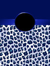 Deep Blue Leopard Print with Rosette Royalty Free Stock Photo