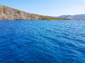 Deep blue sea and island Royalty Free Stock Photo