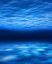 Deep blue sea underwater Royalty Free Stock Photo