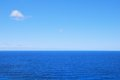 Deep blue sea waters and clear sky Royalty Free Stock Photo