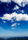Deep blue sky Royalty Free Stock Image