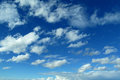 Deep blue sky and clouds Royalty Free Stock Photo