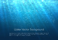 Deep blue water vector background with bubbles Royalty Free Stock Photo