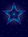 Deep Color Star Card_eps Royalty Free Stock Photo