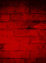 Deep Dark Red Brick Grunge Background Royalty Free Stock Photo
