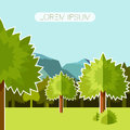 Deep Forest flat background12 Royalty Free Stock Photo