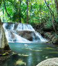 Deep forest waterfall at huay mae khamin waterfalls sri nakarin national park kanchanaburi province thailand Stock Photography
