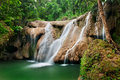 Deep forest Waterfall in jungle Stock Photography