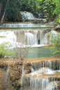 Deep forest Waterfall in Kanchanaburi, Thailand Stock Images