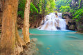 Deep forest waterfall in kanchanaburi in thailand huay mae kamin Stock Images