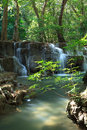 Deep forest waterfall in kanchanaburi thailand mae kamin Royalty Free Stock Photography