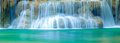 Deep forest waterfall in kanchanaburi thailand panorama Royalty Free Stock Image
