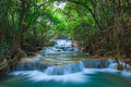 Deep forest waterfall in kanchanaburi thailand western of Royalty Free Stock Photography
