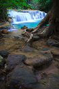 Deep forest waterfall in kanchanaburi thailand western of Royalty Free Stock Photo