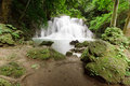 Deep Forest Waterfall, Kanjanaburi Thailand Royalty Free Stock Photos