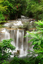 Deep Forest Waterfall, Kanjanaburi Thailand Royalty Free Stock Photo