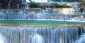 Deep forest waterfall at kanjanaburi thailand beautiful huay mae ka min national park Stock Photo