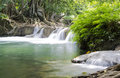 Deep forest Waterfall in Saraburi, Thailand Royalty Free Stock Photo