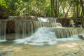Deep forest waterfalls in national park thailand huay mae kamin Stock Photos