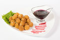 Deep fried cheese balls Stock Photos
