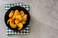 Deep fried shrimps in a bowl Royalty Free Stock Photo