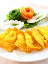 Deep Fried Wonton or dumpling Royalty Free Stock Images