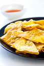 Deep fried Wonton pastry Stock Photography