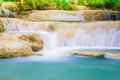 Deep jungle natural forest waterfall in thailand kanchanaburi national park Stock Image