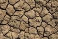 Deep Mud Cracks Background Royalty Free Stock Photo