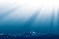 Deep ocean abstract environmental backgrounds wit copyspace Royalty Free Stock Photos