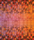 Deep orange and brown triangle pattern