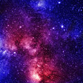 Deep outer space colorful and beautiful galaxy somewhere in Royalty Free Stock Image