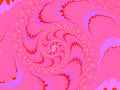 Deep Pink Modern Style Fractal 2d Royalty Free Stock Image