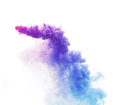 Deep pink, purple,blue, pavorwave color smoke on white background for design element. Stock image