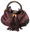 Deep red leather bag Royalty Free Stock Photo