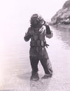 Deep sea diver Royalty Free Stock Photo