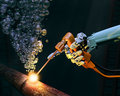 Deep sea maintenance Royalty Free Stock Photo