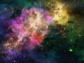 Deep space nebula Stock Photos
