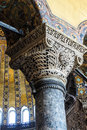 Deeply undercut corinthian columns istanbul may of hagia sophia in istanbul turkey Stock Image