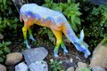 Deer abstract artsy colorful as decoration in garden Stock Image