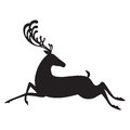 Deer black vector illustration elk silhouette