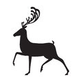 Deer black vector illustration isolated elk silhouette