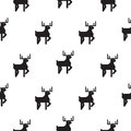 Deer black and white kid scandinavian pattern.