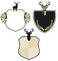 Deer coat of arms patch Stock Images