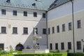 The deer in the courtyard of castle Cerveny Kamen, Slovakia