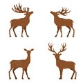 Deer flat illustration