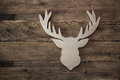 Deer head with antler for christmas decoration Royalty Free Stock Photo