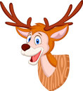 Deer head cartoon illustration of Stock Photo
